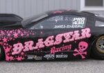 Another black and pink racecar