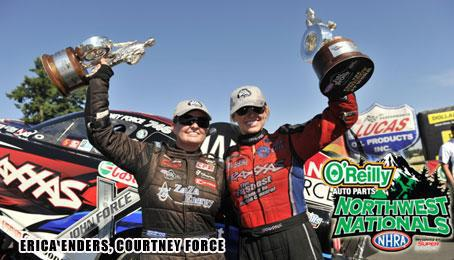Enders and Force share the podium