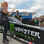 Brittany Force celebrates 1 year with Monster