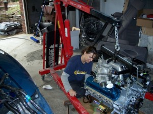 Cara Adams engine rebuild