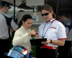 Cara Adams and Danica Patrick