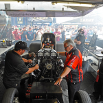 Patron Funny Car warm up in Englishtown