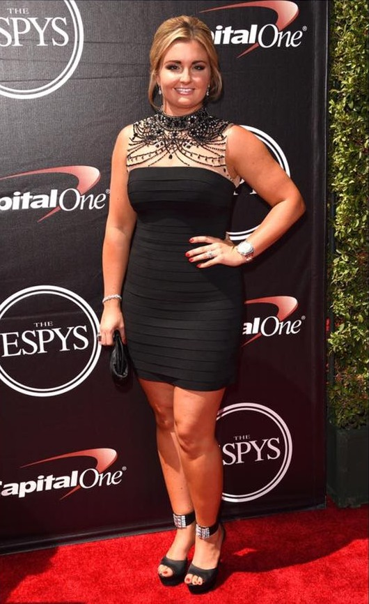 Erica Enders on the red carpet at ESPY awards