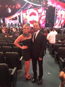 Erica Enders and husband at ESPYs