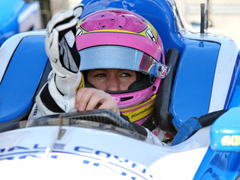 Pippa Mann at Pocono