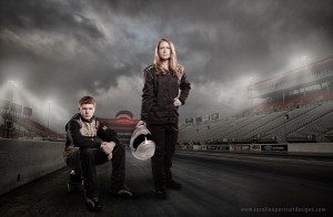 Ashley and her brother make up Strickland Racing