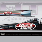Leah Pritchett in Black Magic Top Fuel