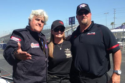 Erica Enders and Jay Leno