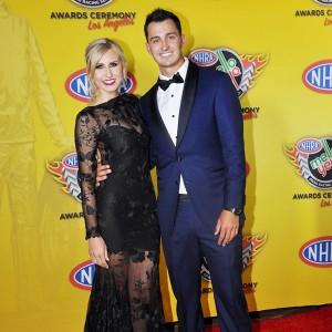 Courtney Force and Graham Rahal on NHRA Red Carpet