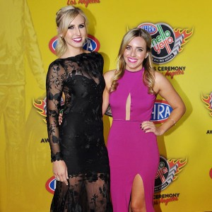 Brittany and Courtney Force on NHRA Red Carpet