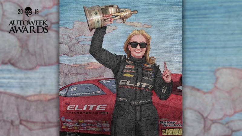 Erica Enders wins Autoweek award