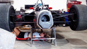 Mianna Wick at work on Indycar