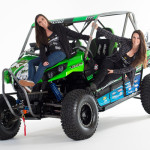 Teryx Girls Sara Price and Erica Sacks with their new UTV