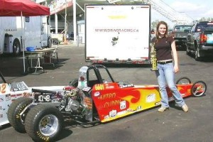 Courtney Mageau finishes 2nd in Junior Dragster