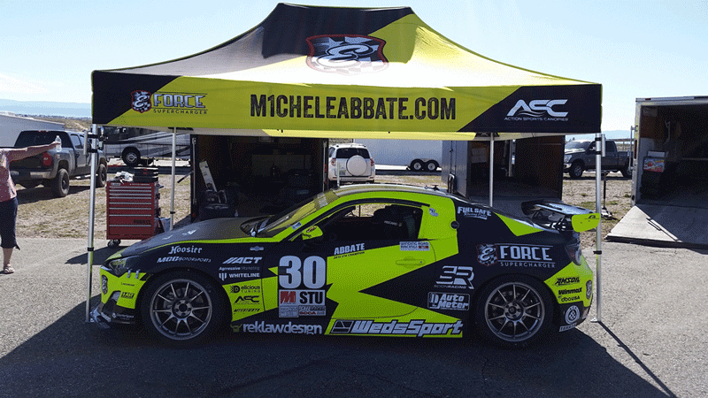 Willow Springs Challenging for Michele Abbate
