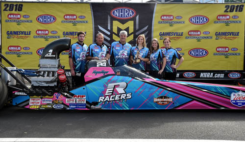 Megan Meyer and team win best appearing car at the Gatornationals