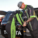 Alexis Dejoria injured first round accident