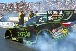 Alexis Dejoria injured in first round accident
